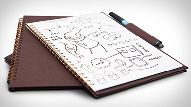 Simply innovative: The Dry Erase Notebook!