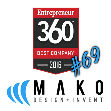 Entrepreneur Magazine Names MAKO as a Top Company of 2016