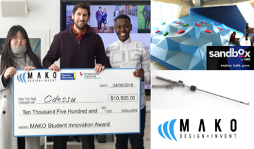 New Innovation: the Mako Student Innovation Award at Ryerson Sandbox DMZ