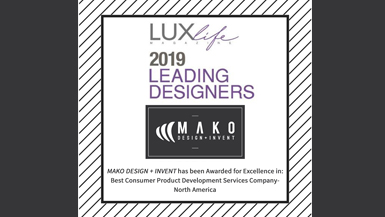 MAKO Named Best Product Development Company by LUXLife Magazine