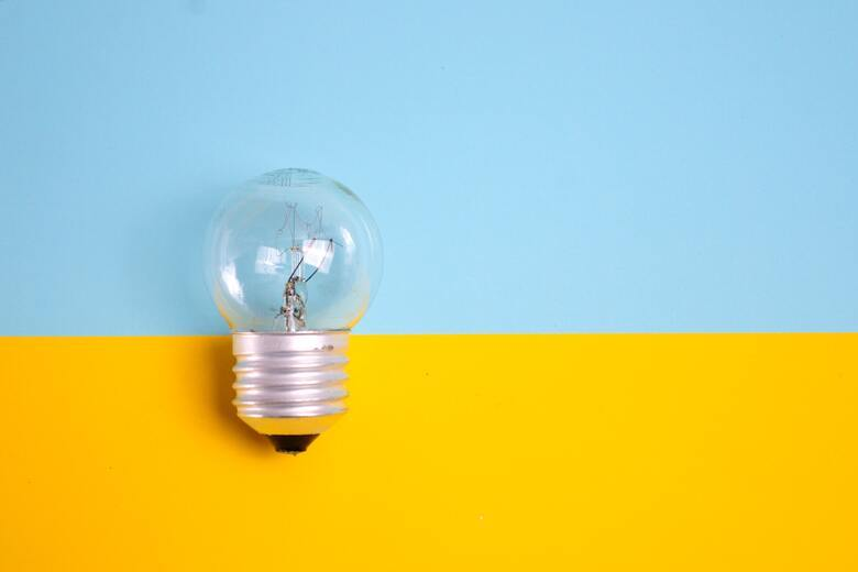 This lightbulb is in reference to an idea or thought.
