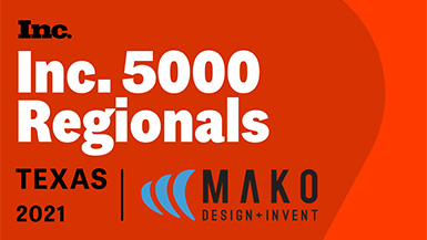 Mako Design Recognized as One of the Fastest-Growing Company on the Elite Inc. 5000 Regionals: Texas List