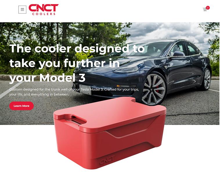 CNCT Cooler Product Design Website
