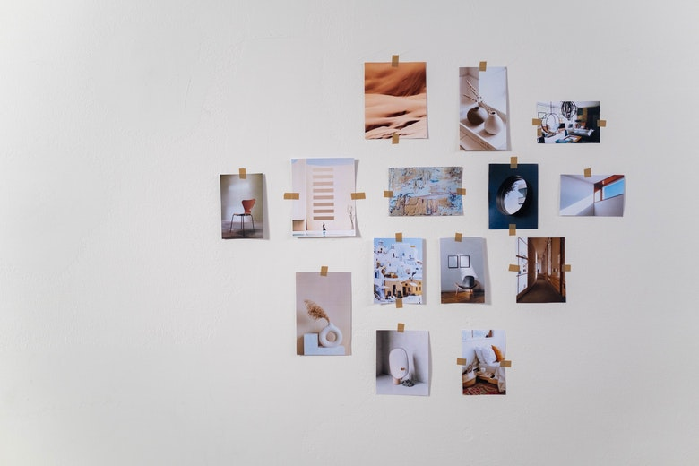 Picture of a physical mood board.