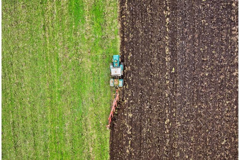 Traditional farming method.