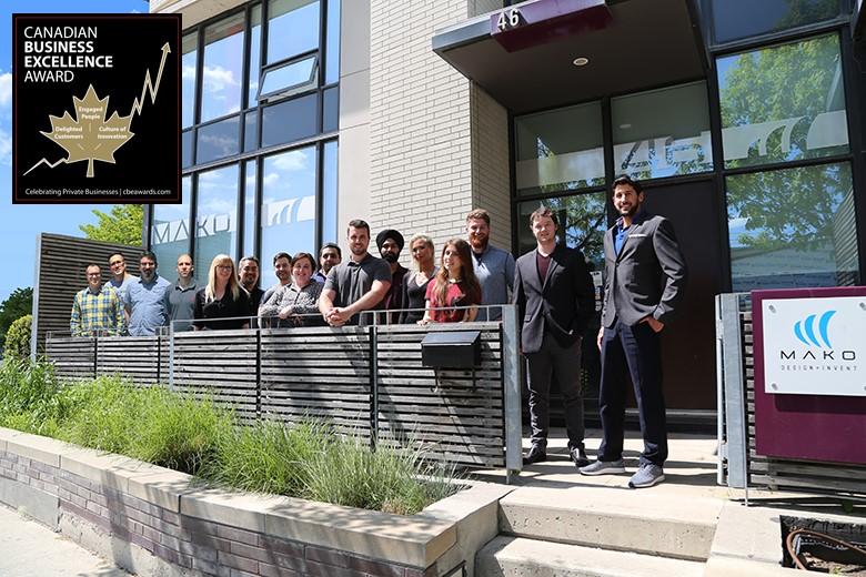 MAKO Design, a Canadian industrial design firm, wins the CBEA.