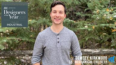 Demsey Kirkwood, MAKO's Sr. Mechanical Engineer, is a Designer of the Year Award 2021 Finalist