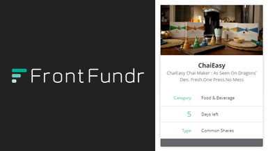 MAKO Design Client, ChaiEasy, Smashes Their FrontFundr Investment Goal!