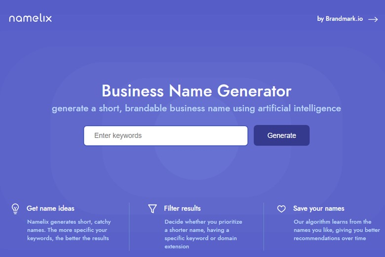 Namelix: The easiest way to name invention designs Austin