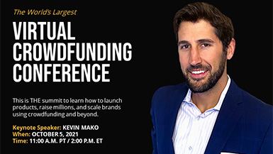 You're Invited to Kevin Mako's Crowdfunded Summit Keynote on October 5, 2021!