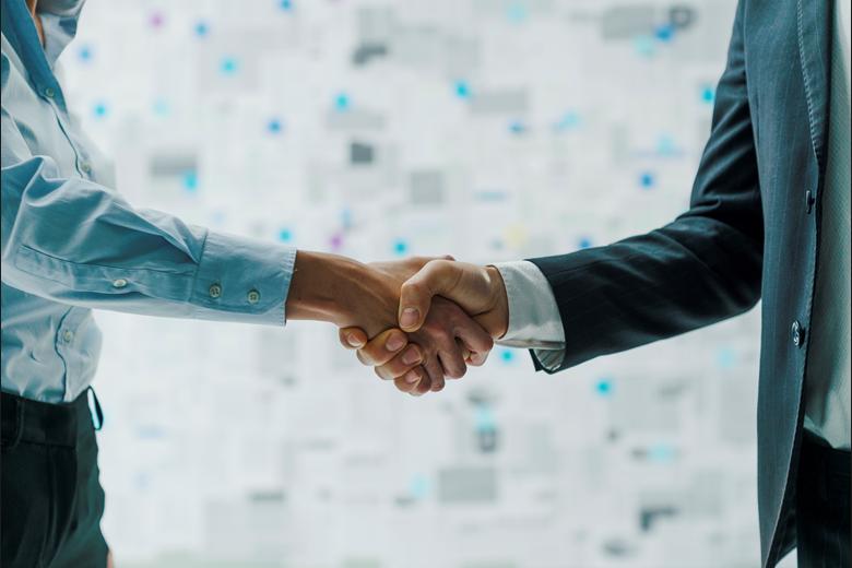 Handshake between business partners.